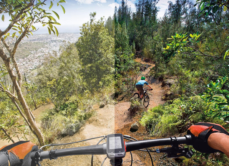 d8c518dce0ad9 Prizm Trail  comparação com a visão tradicional (esquerda) e com a  tecnologia Prizm (direita)